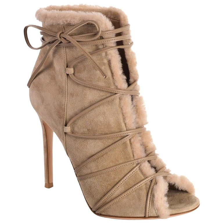 1cddc2dfe26 Gianvito Rossi Womens Aspen Brown Suede Ankle Boots Size IT38.5 US8 ...