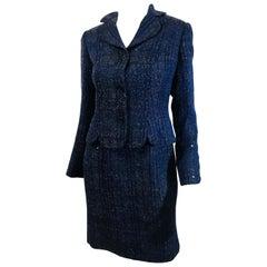 Carolina Herrera Wool 2 PC Dress Suit