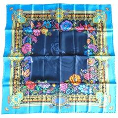 Gucci Silk Scarf Matador Flower Vibrant Color New, Never worn 1990s