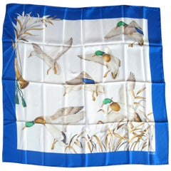 Gucci Silk Scarf Mallard Bird Duck  New, Never worn 1990s