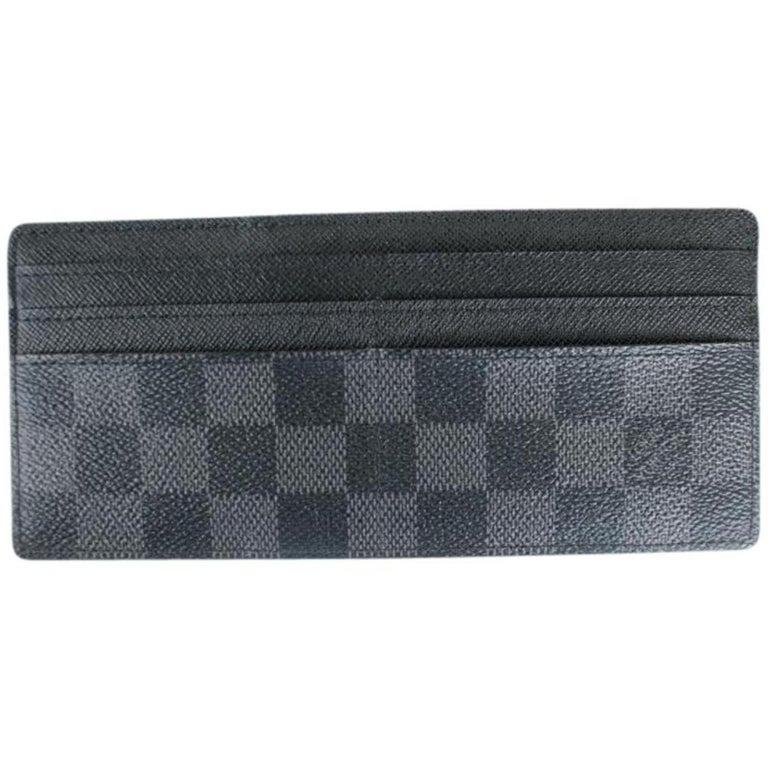 98df4050f6f44 Louis Vuitton Black Damier Graphite Long Card Case 819lt5 Wallet At
