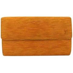 Louis Vuitton Sarah Bifold 216459 Brieftasche, Gelbes Epi-Leder