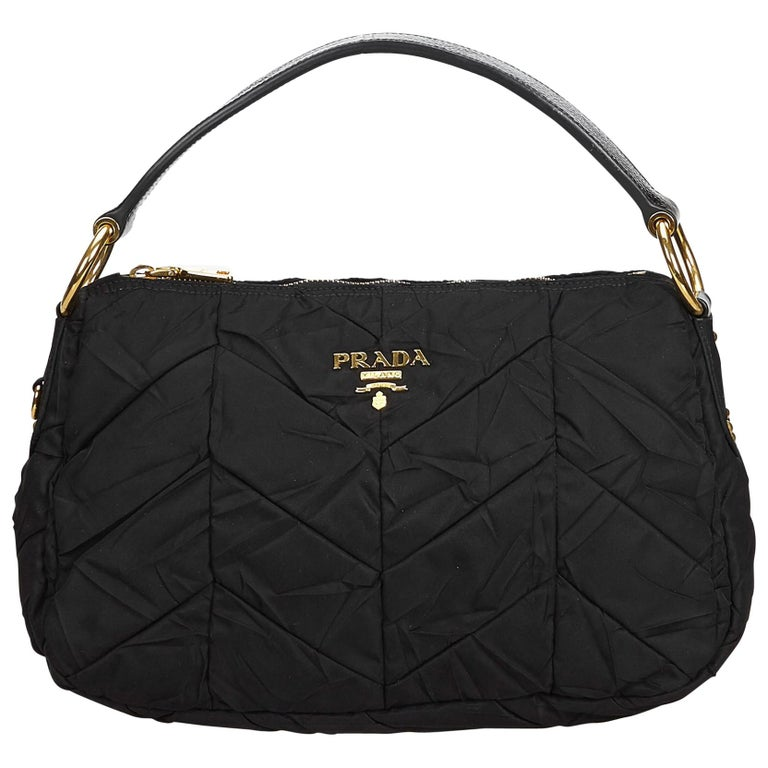 91cd2c9ec1cc Prada Black Quilted Nylon Handbag For Sale at 1stdibs