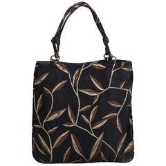 Prada Brown Fabric Tote Bag