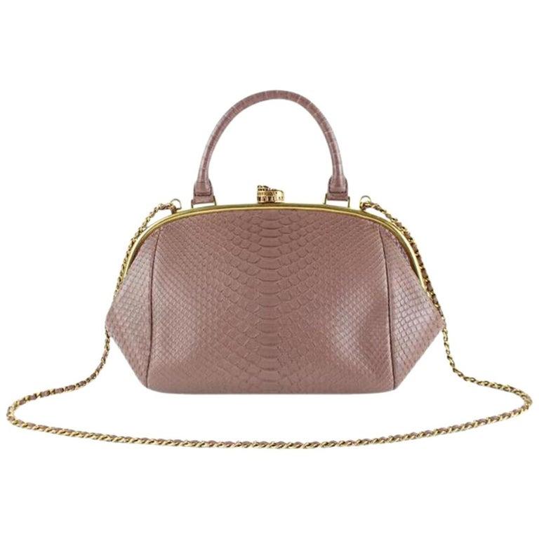5e0bdd3622cb Chanel Boy Python Large Retro Donna Bowling 6ccdg8917 Mauve Leather Shoulder  Bag For Sale