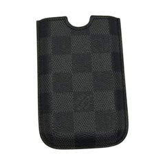 Louis Vuitton Schwarz Damier Graphit 3G Iphone-Case 218445, Technik-Accessoire