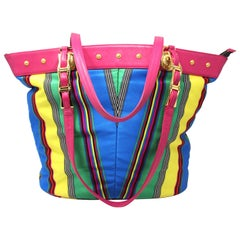 Gianni Versace Multicolored Large Tote, c. 90's