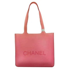 Chanel Jelly Tote 220708 Pink Rubber Shoulder Bag