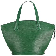 Louis Vuitton grün Epi Saint Jacques kurze Armband Uhr