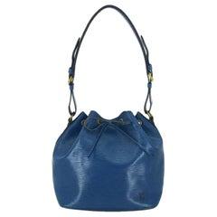 Louis Vuitton Epi Petit Noe 224180 Blue Leather Hobo Bag