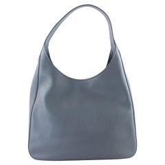 Prada Daino Pocket Hobo 17pr1122 Grey Leather Shoulder Bag