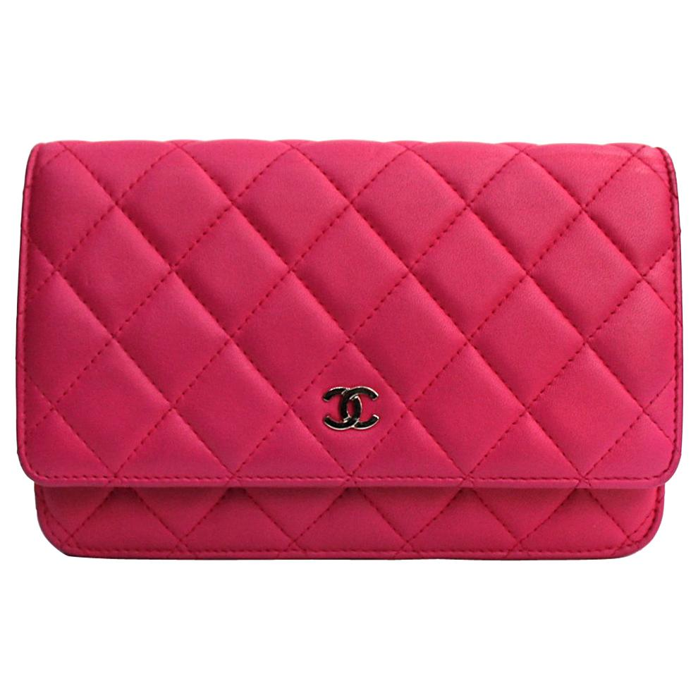 Chanel Fuchsia Leather Woc Bag