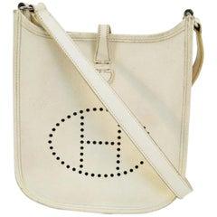 Hermès Evelyne Blanc Tpm Crossbody 221996 White Leather Messenger Bag