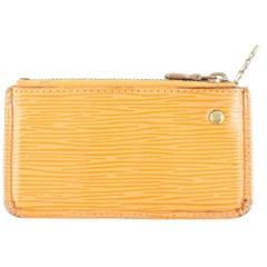 Louis Vuitton Mandarin Orange Epi Key Cles Change Pouch 10lr1113 Leather Clutch
