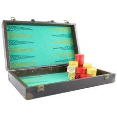 Louis Vuitton ( Ultra Rare ) Anitque Monogram Backgammon Hard Case Trunk 4lr1113