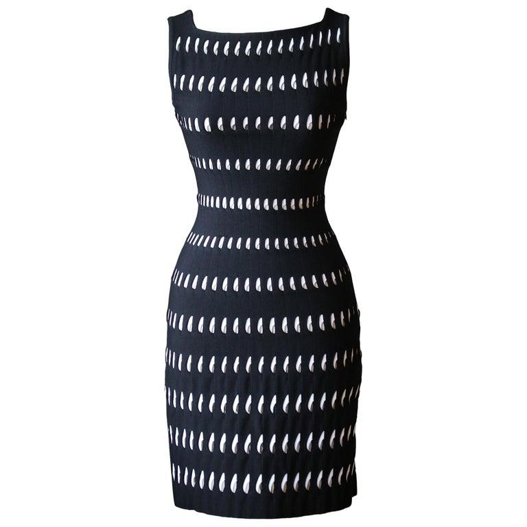 Azzedine Alaïa Perforated Mini Dress  For Sale