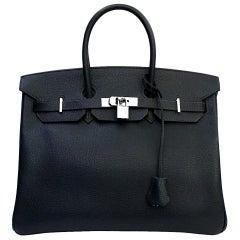 Hermès 35cm Blu Togo Birkin Bag