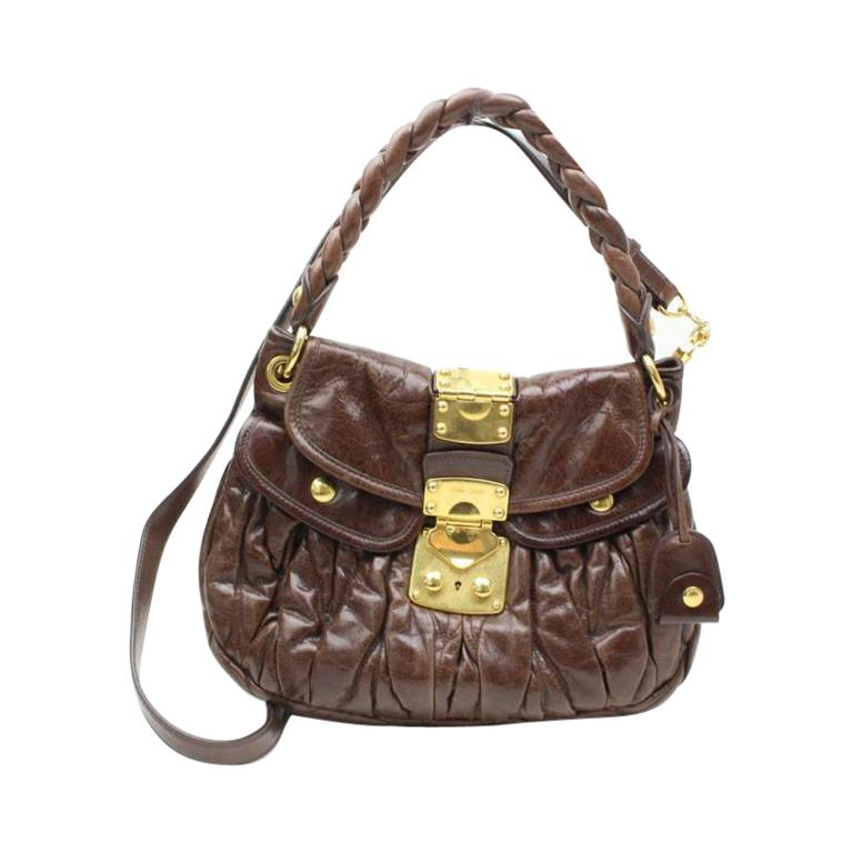 abcb53930583 Miu Miu 2way Quilted 86507 Browns Leather Shoulder Bag For Sale at 1stdibs