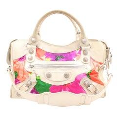Balenciaga Limited Edition Floral Giant City 2way 123018 Multicolor Shoulder Bag