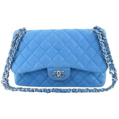 Chanel Classic Flap Quilted Matte Caviar Jumbo Double 5ct1020 Shoulder Bag