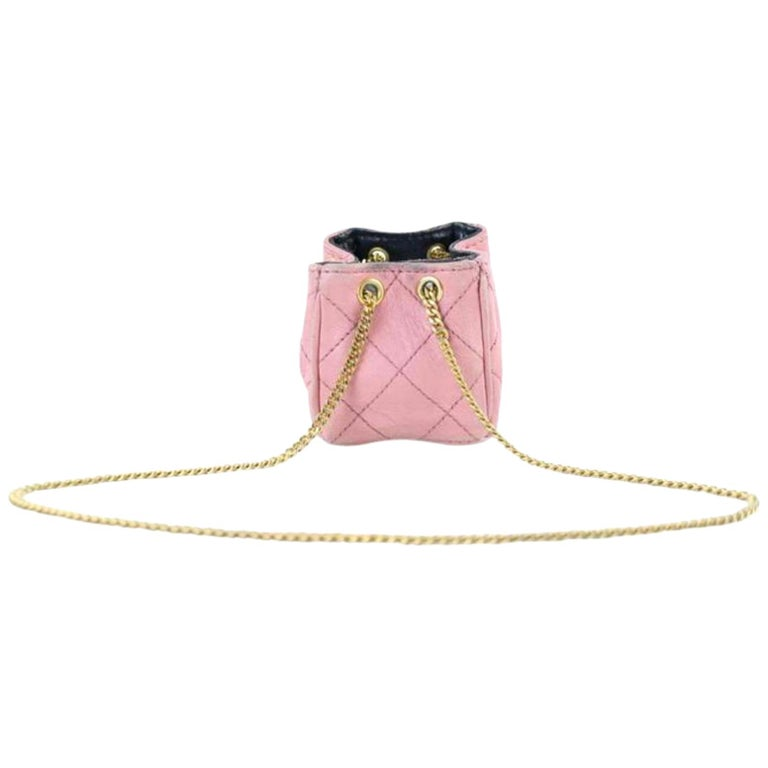 b931f08996d2a9 Chanel Quilted Mini Cc Chain 222781 Pink Leather Clutch For Sale at ...