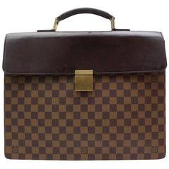 Louis Vuitton Altona Damier Ebene 123019 Brown Canvas Laptop Bag