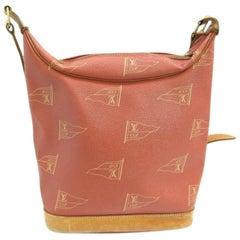Louis Vuitton America's Cup Toquet Hobo 101413 Red Canvas Shoulder Bag
