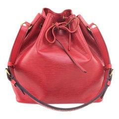 Louis Vuitton Epi Petit Noe Hobo 19381 Red Leather Shoulder Bag