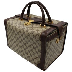 Gucci Monogram Canvas Vintage Vanity Case