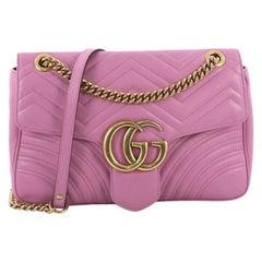 Gucci GG Marmont Flap Bag Matelasse Leather Medium