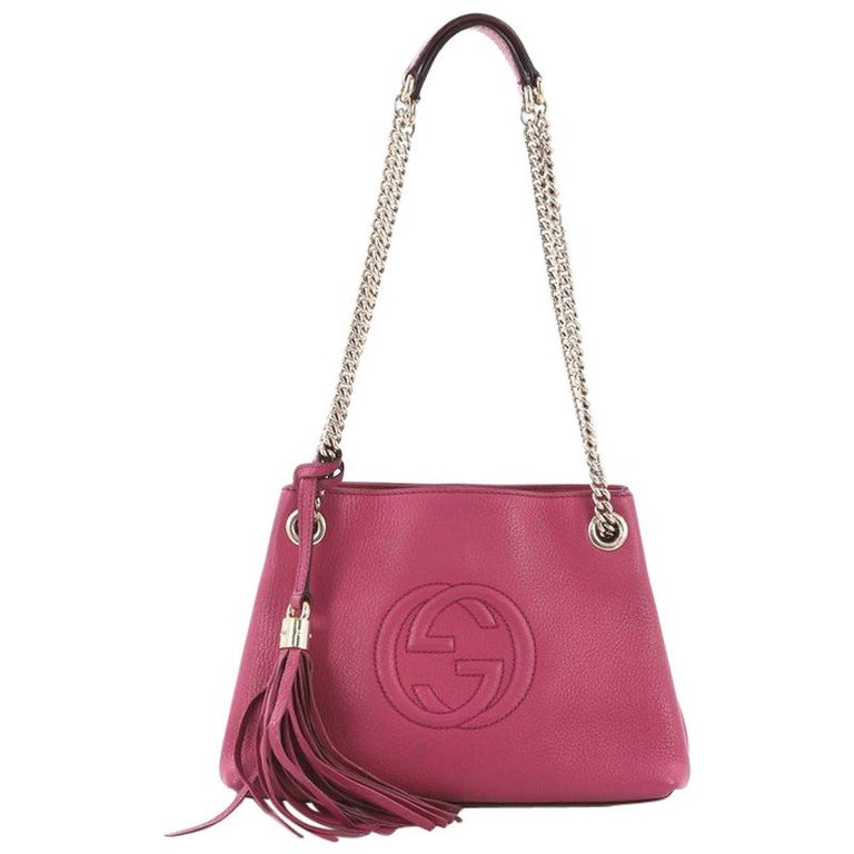 e595e66184527 Gucci Soho Chain Strap Shoulder Bag Leather Mini For Sale at 1stdibs