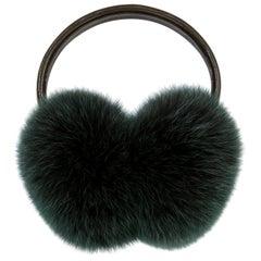 Verheyen London Ear Muffs in Olive Fox Fur - Gift