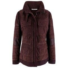 Yves Saint Laurent Purple Leather Suede Jacket US 6