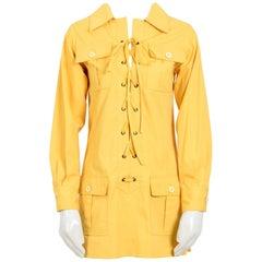 Yves Saint Laurent corn safari tunic, 1968 collection as seen on Betty Catroux