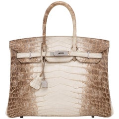 HERMÈS Himalaya Crocodile Diamond Birkin 35 with 18K White Gold Hardware