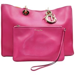 Christian Dior Rose Sorbet Calfskin Leather Shoulder Bag