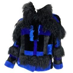 New Versace mixed fur jacket