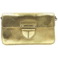 Prada Gold Leather Cross Body Bag
