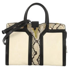 Saint Laurent Chyc Cabas Tote Leather and Python Small
