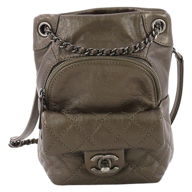 762ae11aeabf Chanel Drawstring CC Flap Backpack Quilted Lambskin Mini For Sale at ...