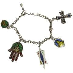 Rare 1990s Jean Paul Gaultier Charm Bracelet
