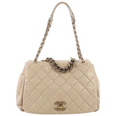 Chanel Pondichery Flap Bag Quilted Aged Calfskin Large