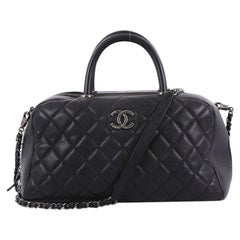 Chanel Coco Handle Bowling Bag Quilted Caviar Medium