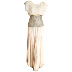 VALENTINO Haute Couture Top Skirt Swarovski Diamonds Waistband Silk Dress-Unworn