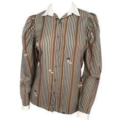1970s Pierre Cardin Striped Blouse