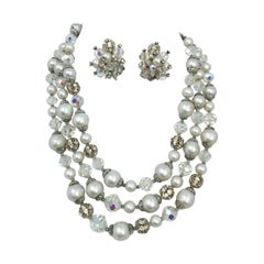 1960s Vendôme Necklace and Earring Set