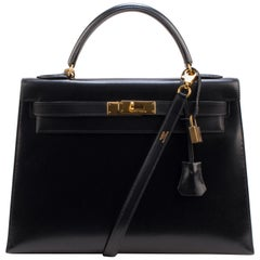 Hermes Kelly 32 Cm Box Black