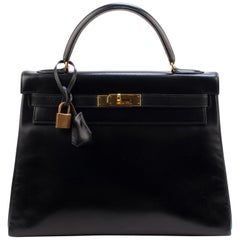 Hermes Kelly 32Cm Box Black