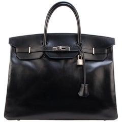 Hermes Birkin 40Cm box black