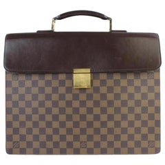 Louis Vuitton Altona Pm Attache 9lt927 Damier Ebene Canvas Laptop Bag